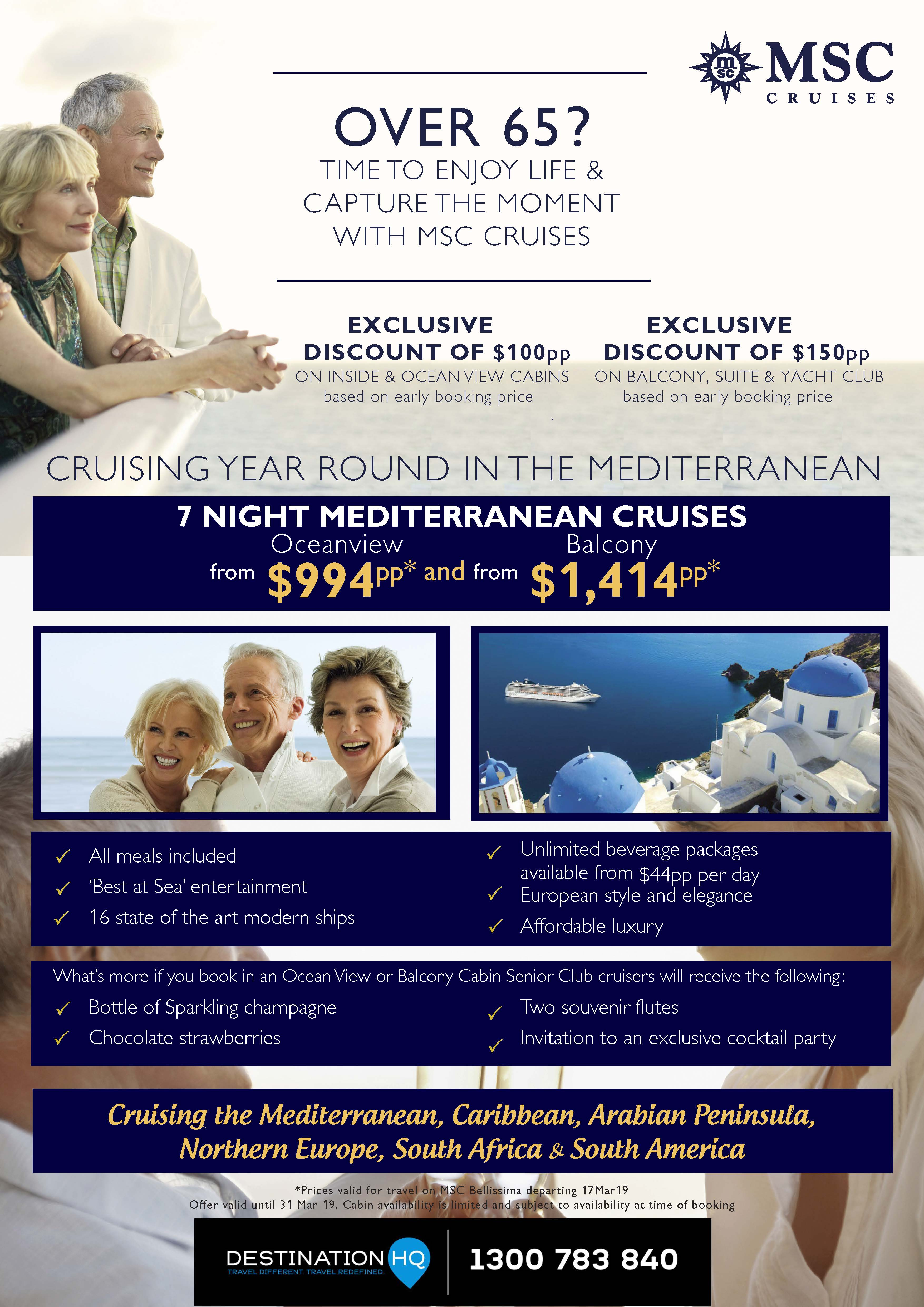 Ocean Cruising HQ - Over 65 MSC Cruise Special 7 Night